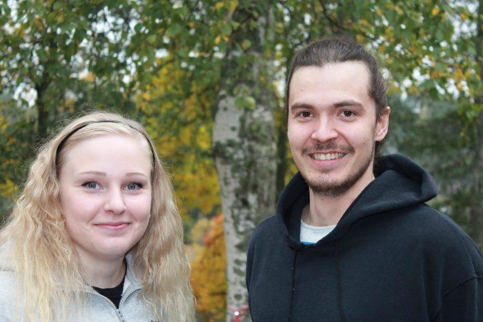 Etsivät nuorisotyöntekijät Jessica ja Lauri