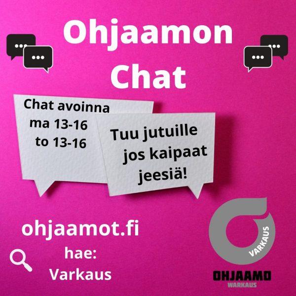 Kuvassa mainos Ohjaamon chatista